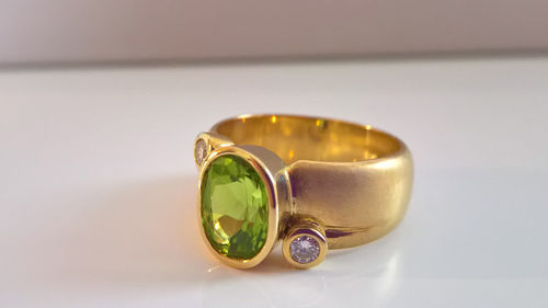 Peridot Ring Glitzer Brillant