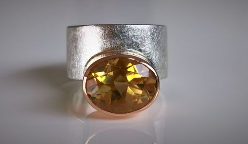 Citrin Ring Rotgold
